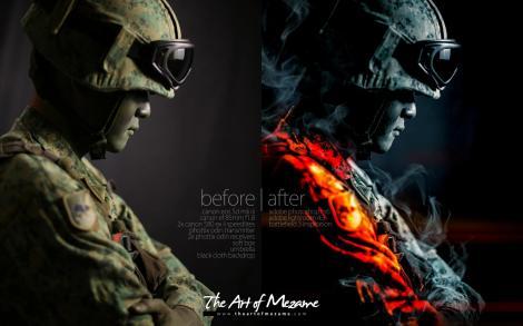 An SAF soldier: Battlefield 3 style